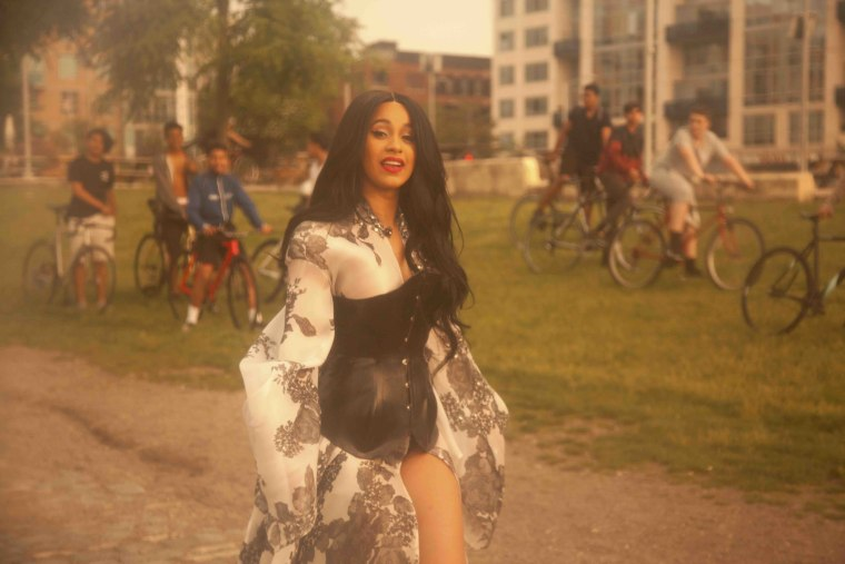 "Cardi B addresses flow-biting criticism as ""Bodak Yellow"" goes number one for the second week in a row"