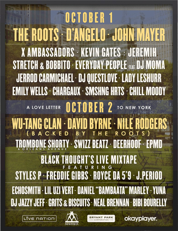 The Roots Invite D'Angelo, Wu-Tang, And Others For First Roots Picnic NYC