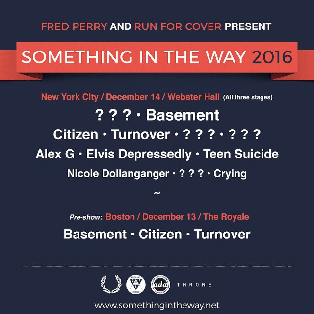 Run For Cover Records Announces Something In The Way Festival
