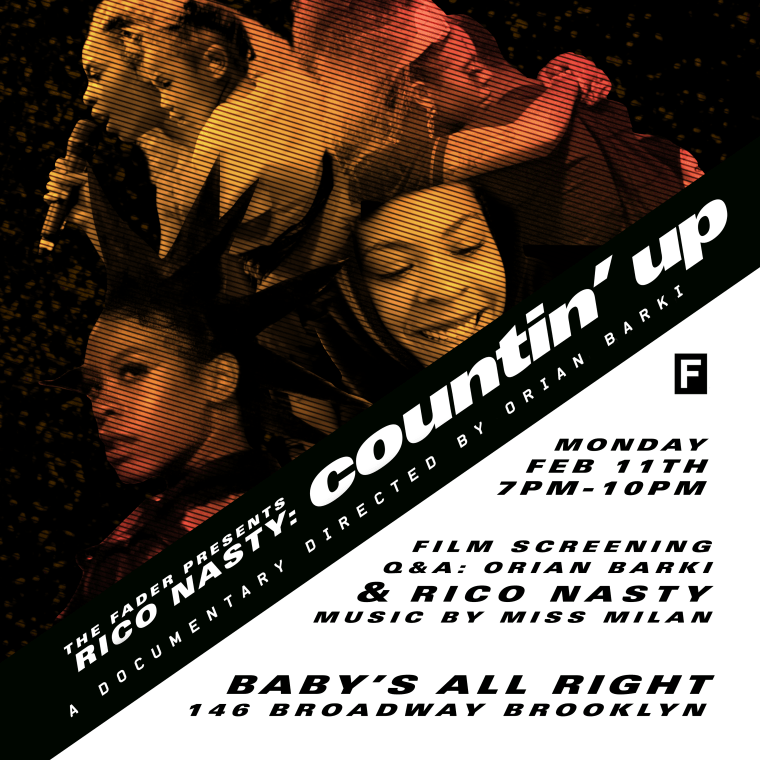 RSVP to a screening of The FADER's new Rico Nasty documentary <i>COUNTIN' UP</i>
