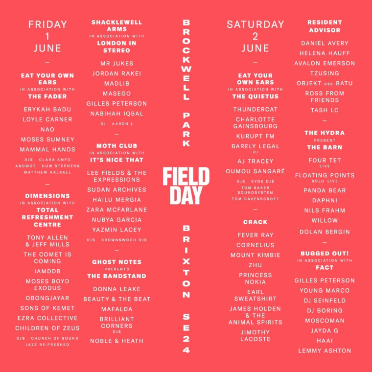 5 essential artists at this year's Field Day Festival