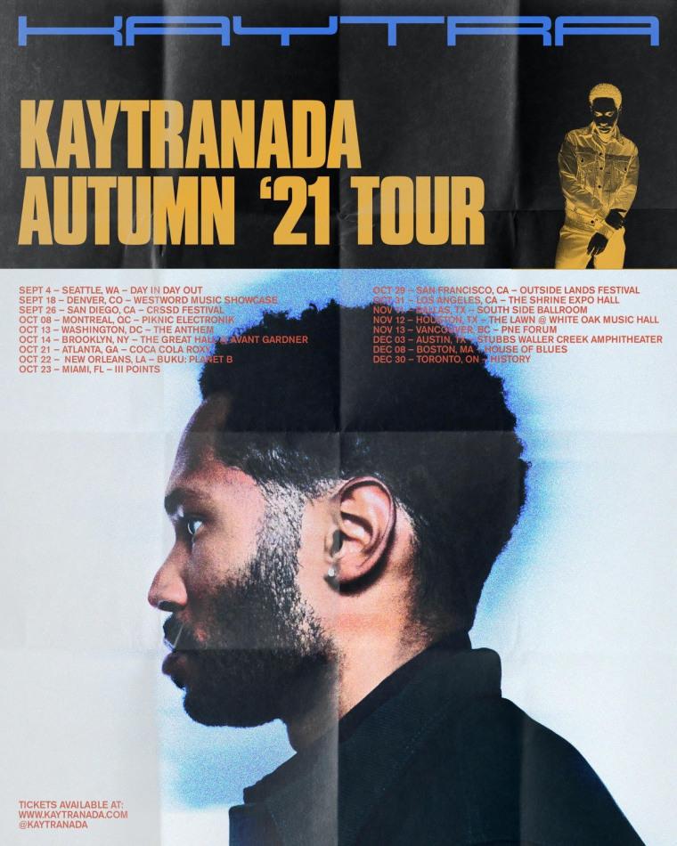 Kaytranada shares 2021 tour dates