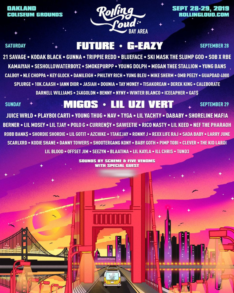 Lil Uzi Vert, Future, G-Eazy and more announced for Rolling