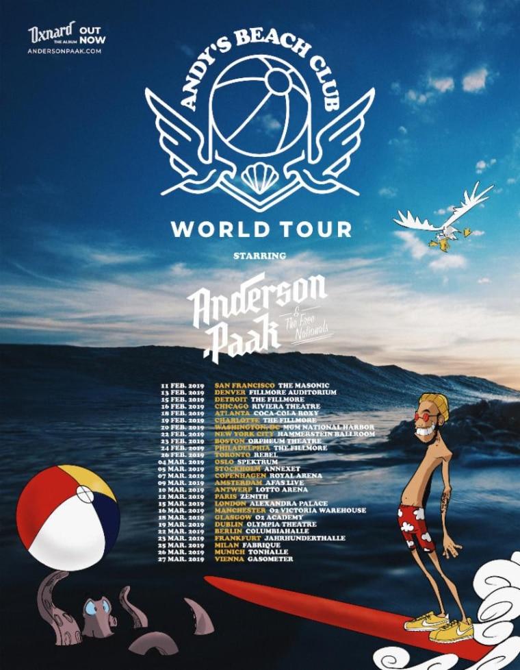 Anderson .Paak announces world tour