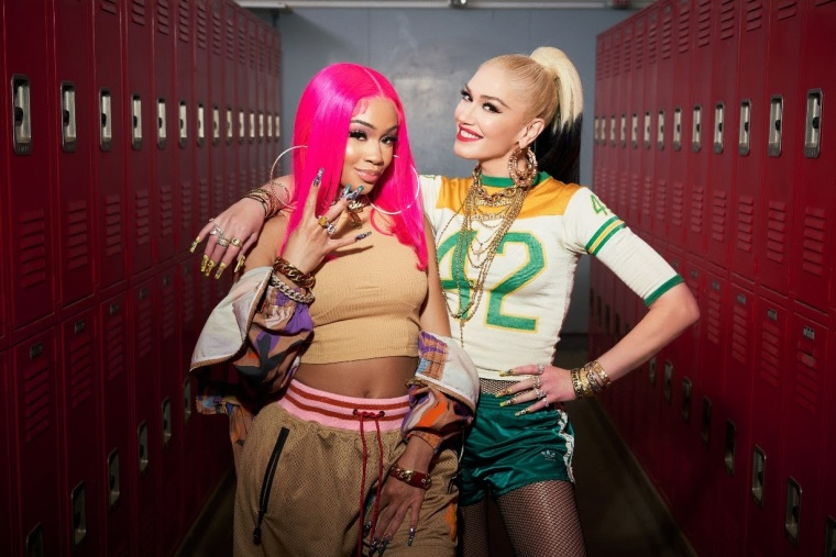 "Saweetie joins Gwen Stefani on new version of ""Slow Clap"""